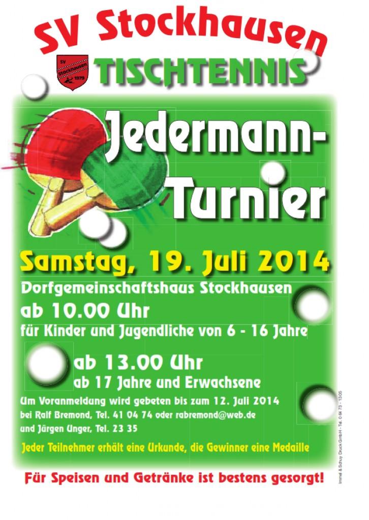Tischtennis SV Stockhausen Plakat