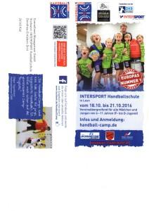 Flyer Intersport Handballschule Seite 1